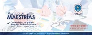 Banner de la maestría en contabilidad y auditoría