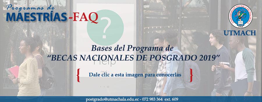 Programa de becas nacionales para posgrado 2019