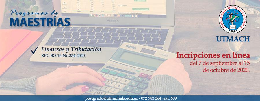 Proceso de admisión para maestría en Finanzas y Tributación