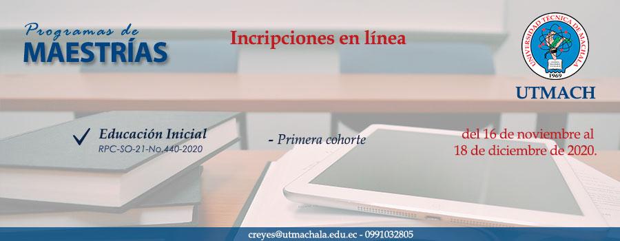 Inicio de admisión para la maestría en Educación Inicial