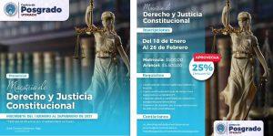 Maestría en Derecho y Justicia Constitucional Tercera Cohorte