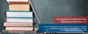 Cronograma de sustentaciones, Software c1, segunda convocatoria