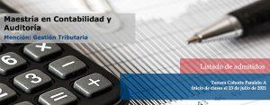 Listado de admitidos contabilidad tercera cohorte